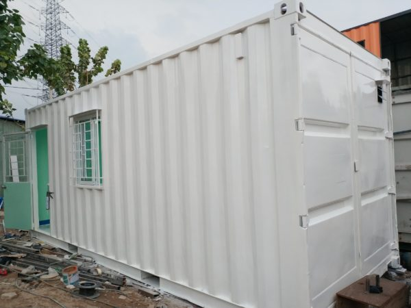 container 20feet nền gạch